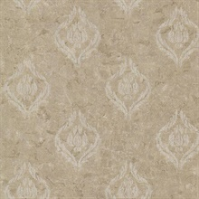 Benza Bronze Small Textured Damask