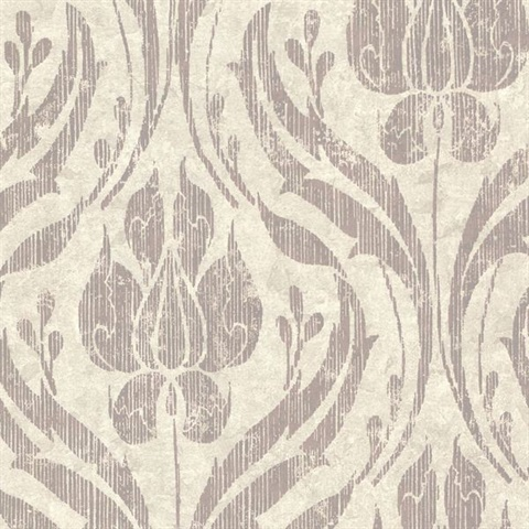 Carrara Taupe Textured Damask