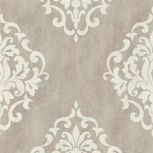 Massa  Grey Large Ornate Damask
