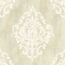 Massa  Cream Large Ornate Damask