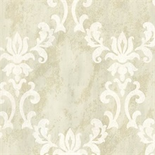 Renna Cream Large Scroll Damask