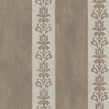 Parisi Pewter Embellished Damask Stripe