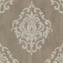 Massa  Pewter Large Ornate Damask