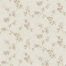 Rose Valley Pink Floral Scroll