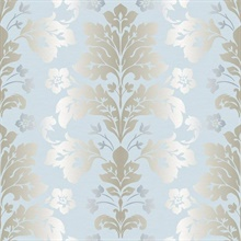 Camila Light Blue Modern Damask
