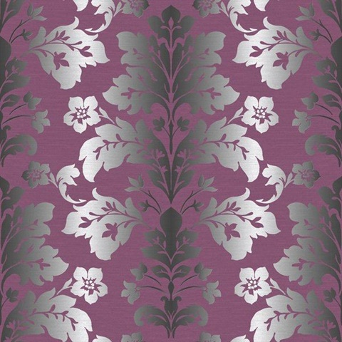 Camila Purple Modern Damask