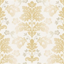 Camila Yellow Modern Damask