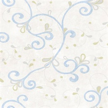 Jada Light Blue Girly Floral Scroll