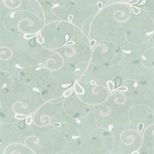 Jada Silver Girly Floral Scroll