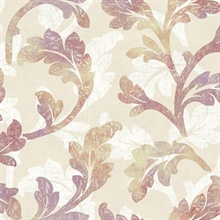 Natalia Taupe Floral Scroll