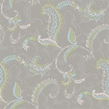 Riley Grey Paisley Scroll