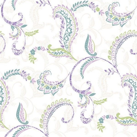 Riley Lilac Paisley Scroll