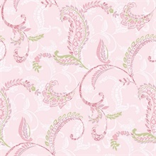 Riley Pink Paisley Scroll