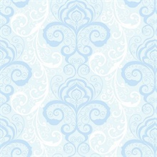 Vanessa Light Blue Henna Brocade