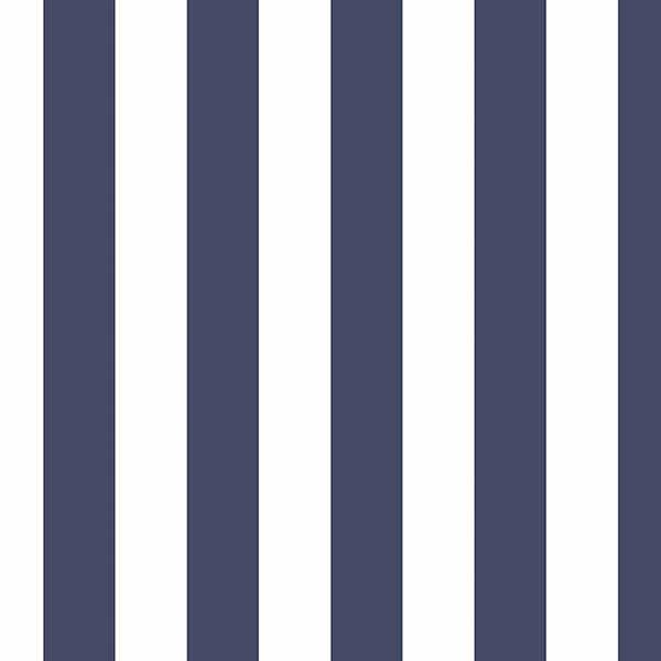 Blue White Stripe Wallpaper