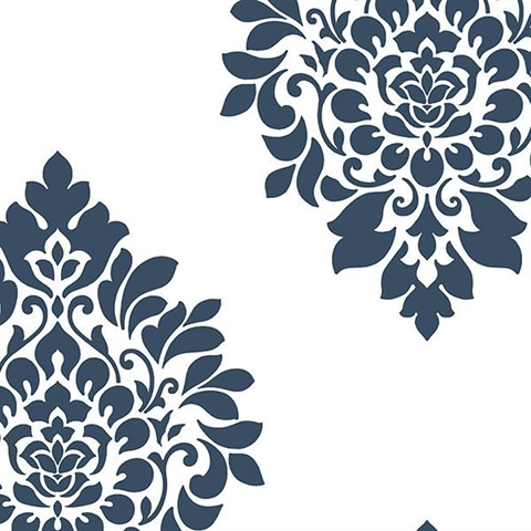 Blue Damask Medallion