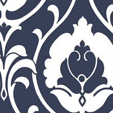 Blue Heirloom Damask
