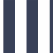Navy & White Medium Stripe