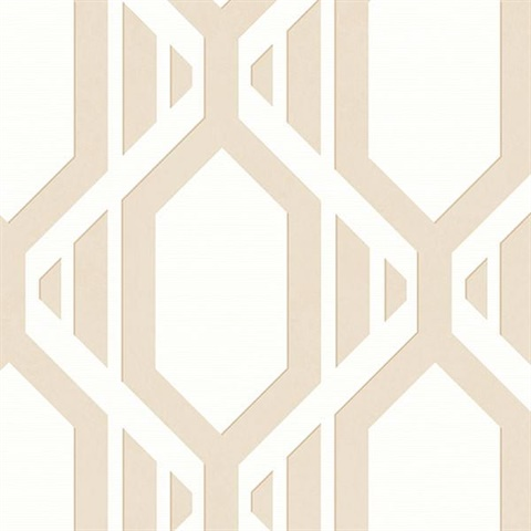 Beige Geometric Stripe