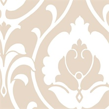 Beige Heirloom Damask