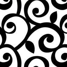Black & White Classic Scroll. Wallpaper