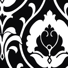 Black & White Heirloom Damask