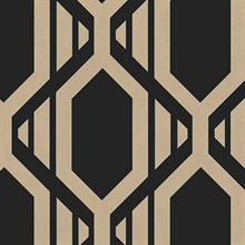Black & Copper Geometric Stripe