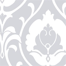 Grey Heirloom Damask