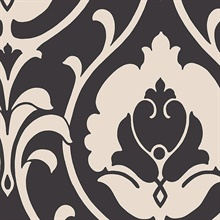 Black & Off White Heirloom Damask