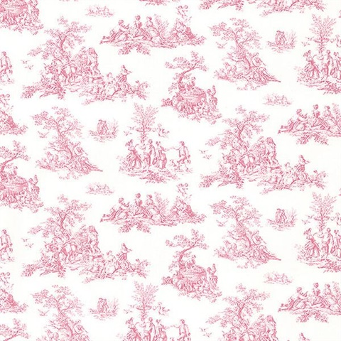 Rural Toile Pp27801 Country Pink Toile Wallpaper