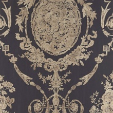 Abbeywood Damask Gilded Ebony