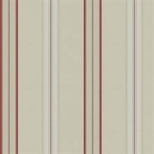 Dunston Stripe Vermillion