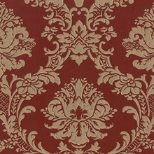Brixham Raised Damask Red