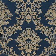 Brixham Raised Damask Navy
