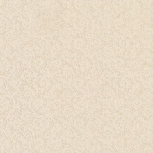 Mini Scroll Leaf Beige
