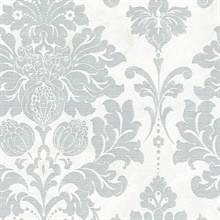 Axbridge Damask Grey/White