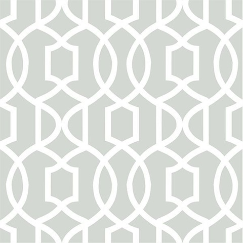 gray grand trellis peel and stick wallpaper | nuw1421
