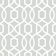 Gray Grand Trellis Peel And Stick Wallpaper
