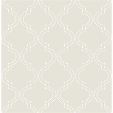 Taupe Quatrefoil Peel And Stick Wallpaper