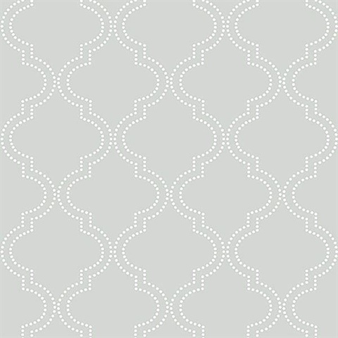 Grey Quatrefoil Peel And Stick Wallpaper