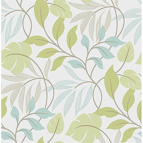 Blue And Green Meadow L Stick Wallpaper