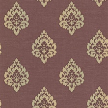 Donald Burgundy  Damask
