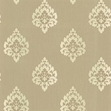 Donald Light Brown  Damask