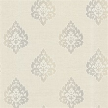 Orpheus Light Grey  Damask