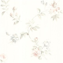 Adeline White Floral Trail