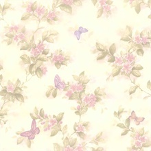 Lisa Lavender Butterfly Floral