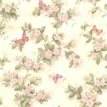 Lisa Pink Butterfly Floral