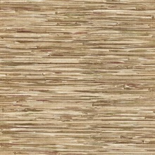 Liu Brown Vinyl Grasscloth