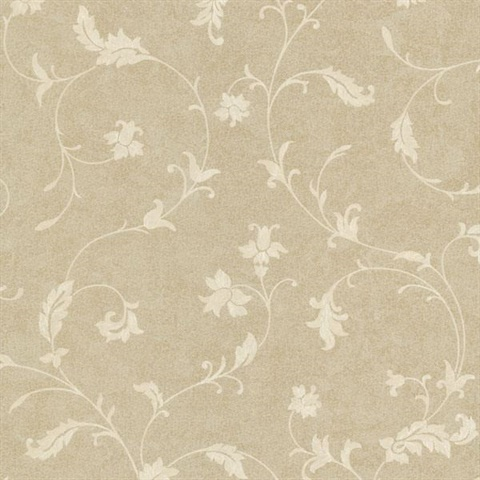 Ciana Gold Elegant Floral Scroll