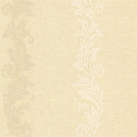 Siena Gold Scroll Stripe